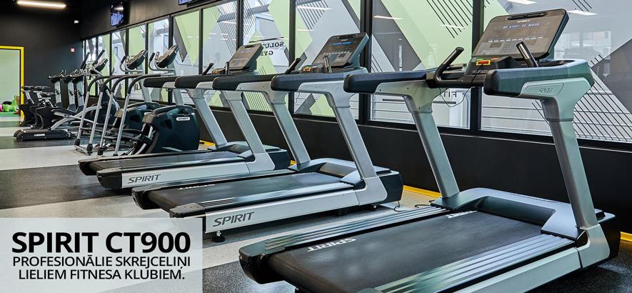 Skrejceliņš Spirit CT900 - Profesionālie skrejceliņi lieliem fitnesa klubiem